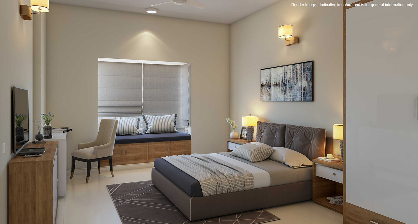 An apartment in a premium retirement community in Bangalore