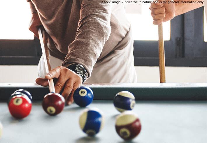 Games room in a senior living community