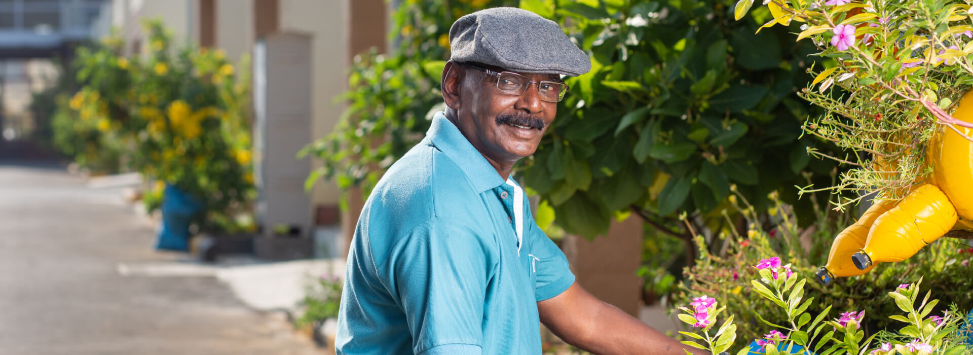 Mr. Murugesan, a resident of Serene Kshetra