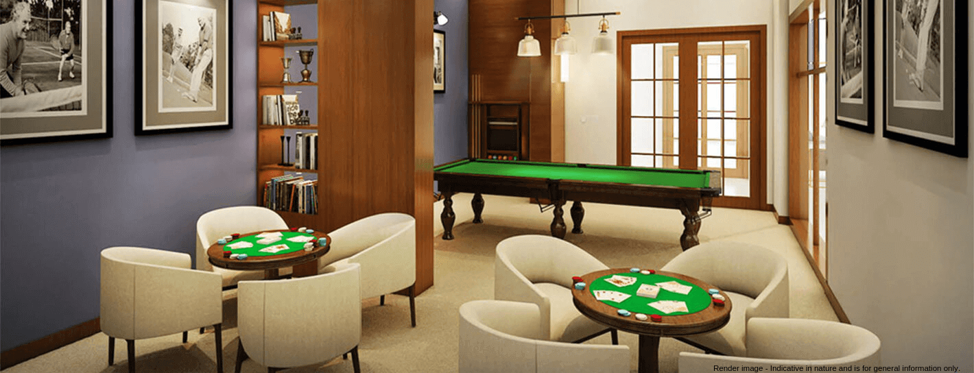 A games room in a senior living community