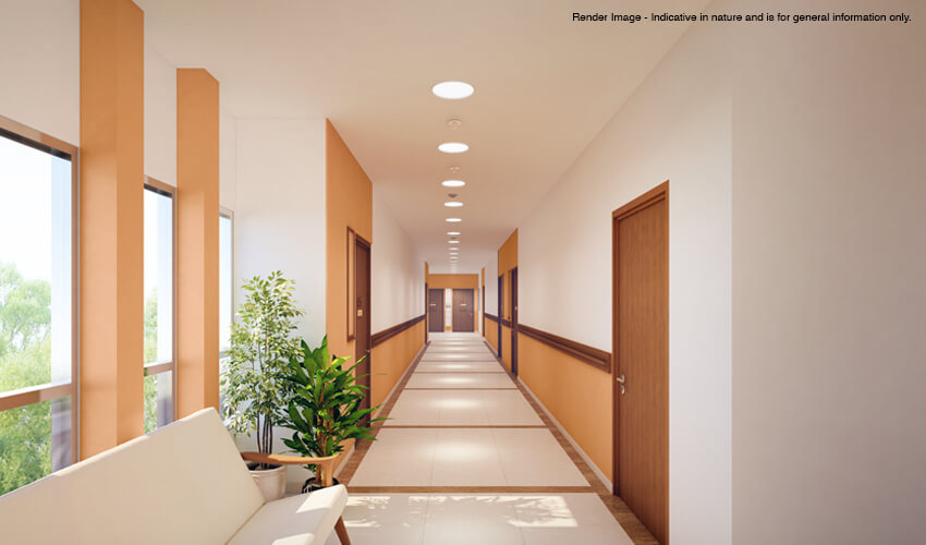 Common areas of a senior living community