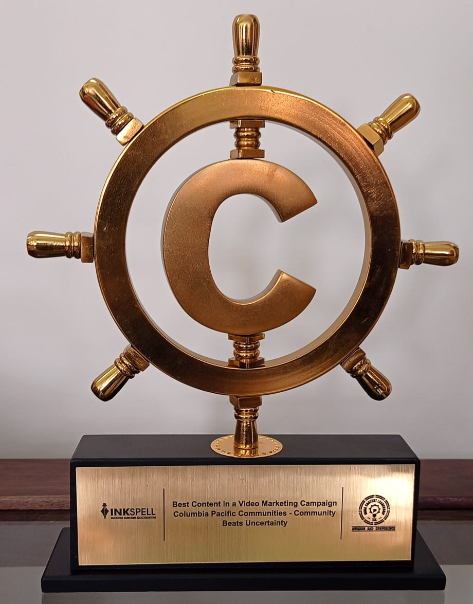 Columbia Pacific Communities wins the award for Best Content in a Video Marketing Campaign at the ICL Awards 2020