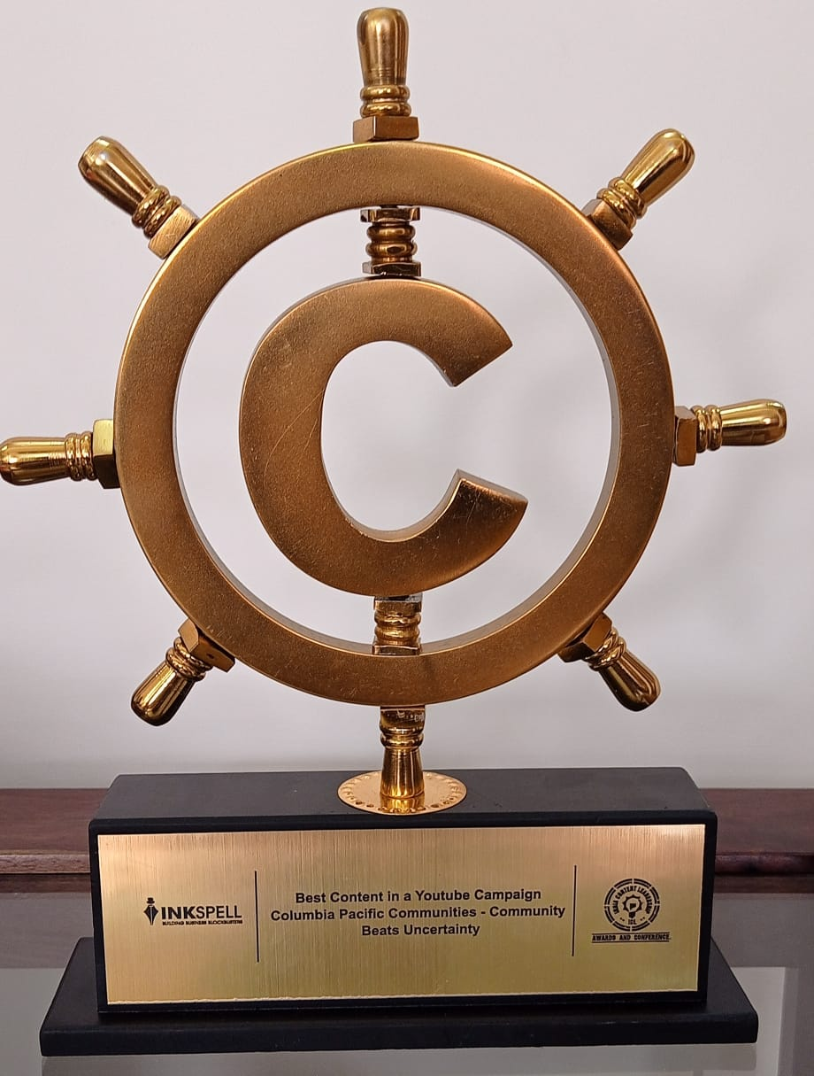 Columbia Pacific Communities wins the award for Best Content in a YouTube Campaign at ICL Awards 2020