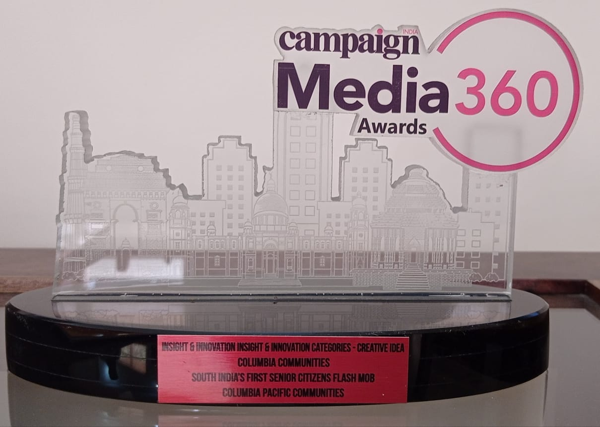 Columbia Pacific Communities wins the bronze award in the Insight & Innovation category at Campaign India Media 360 Awards