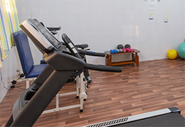 Fully-equipped gym